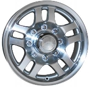 Sendel TR8 15x6 6/5.50 SILVER MACHINED Trailer Wheel