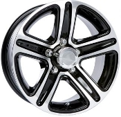 Sendel T09BM BLACK MACHINED 14X5.5 Trailer Wheel
