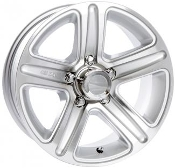 Sendel T09SM SILVER MACHINED 14X5.5 Trailer Wheel