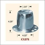 "C127s Trailer Hub Cover Stainless Derby Closed, 4.25"" Dia."