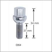 12Mm X 1.50 Rh Ball Seat Lug Bolts Height 54Mm