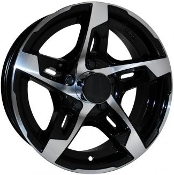 Sendel T10BM Black Machined 14X5.5 5-4.50/114.3 Trailer Wheel