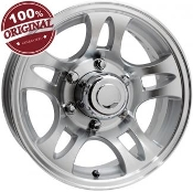 Sendel T03SM SILVER MACHINED 14X5.5 5-4.50/114.3 Trailer Wheel