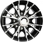 Sendel T07SM BLACK MACHINED 13X5 5-4.50/114.3 Trailer Wheel