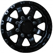 Sendel 13X5 5X4.50/114.3 +0 3.19 1660 MATT BLACK Trailer Wheel T08-66867MB