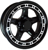 Sendel T11BM Black Machined 14X5.5 5-4.50/114.3 Trailer Wheel T11-45545BM