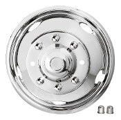 "19.5"" 1999-2004 FORD F450/F550 Stainless Steel Wheel Simulators"