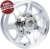 Sendel T02SM SILVER MACHINED 14X5.5 5-4.50/114.3 Trailer Wheel