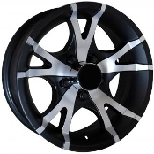 Sendel T07MB MATTE BLACK MACHINED 15X6 6X5.50/139.7 Trailer Wheel