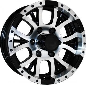 Sendel T13BM Black Machined 12X4 5X4.5/114.3 Trailer Wheel